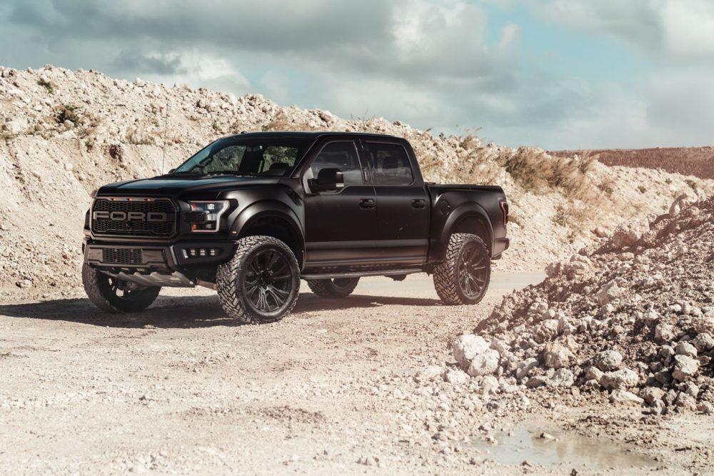 ford raptor matte black ksm offroad wheels 4x4 overland ksm08 truck rims 20inch 20in concave 8 spoke duoblock custom forged