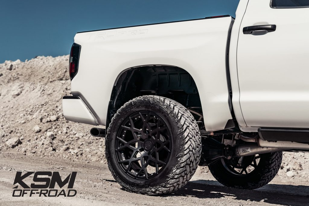 toyota tundra trd pro white ksm offroad wheels ksm02 mesh duo block matte black miami mccustoms rims custom forged mesh lifted truck lifted leveled