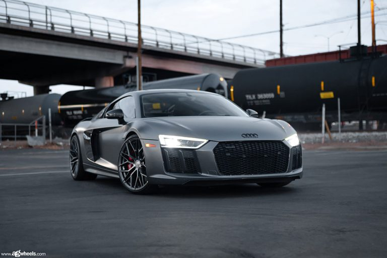 Featuring an Audi R8 on our Avant Garde M520R in the standard Dark Graphite Metallic finish